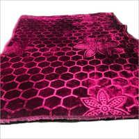 Double Bed Plain Embossed Mink Blanket