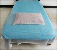 Disposable Bedsheet With Disposable Pillow Cover