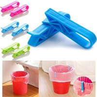 2 Pcs Trash Can Garbage Bag Holder Clips
