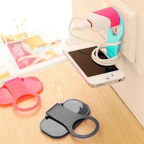 Folding Charger Adapter Holder (Random Color)