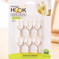 6 Pcs Adhesive Utility Holder Glue Hook
