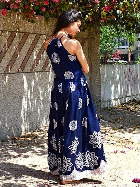 Batik Halter Dress in Rayon
