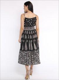 Batik Halter Dress In Panels With Different Batik Motifs