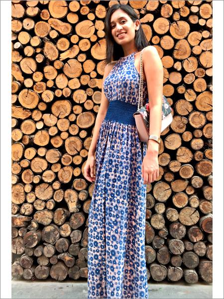 Batik Maxi Halter Dress With Smocking