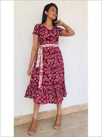 Batik Midi Dress