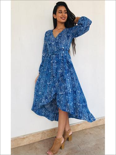 Batik Wrap Dress