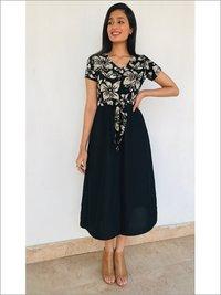Batik Midi Dress in Rayon