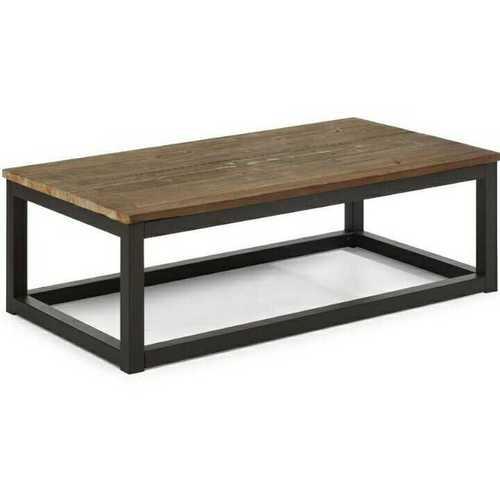 Wood Metal Tea Table