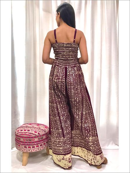 Batik Smocked Jumpsuit
