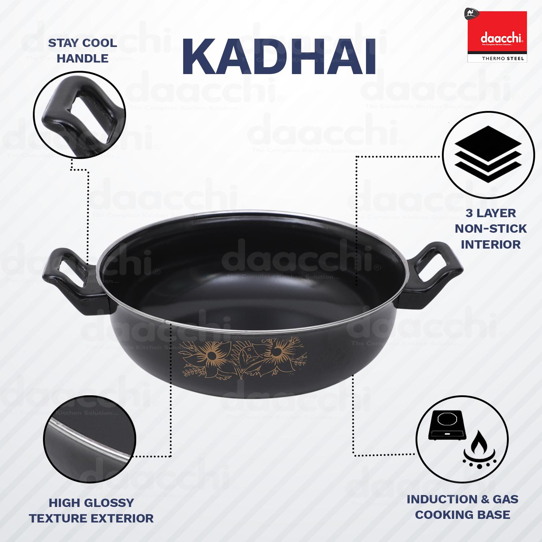 Black Enamel Coated Kadhai