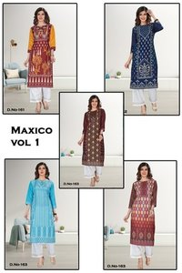 Maxico Vol 1 Cotton Kurti with Pent Set