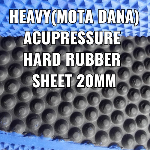 20 mm Heavy Acupressure Hard Rubber Sheet