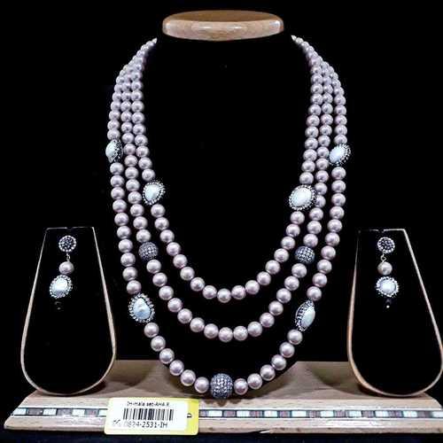 White Pearl Mala Set