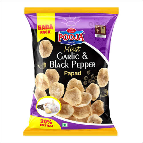 Mast Garlic And Black Pepper Papad