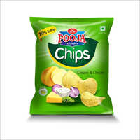 Cream And Onion Flavour Chips