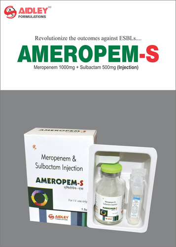Meropenem 1gm + Sulbactum 500mg Injection