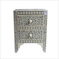 Bone Inlay Side Table Furniture