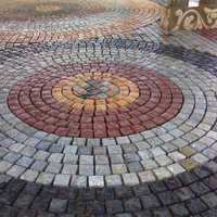 Multi-Color Cobblestone (Hand-Cut Sand Stone)