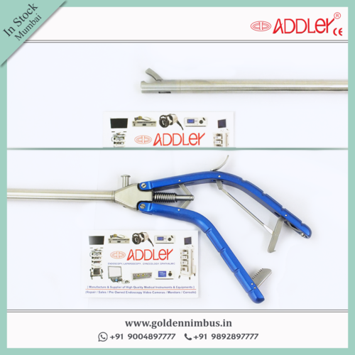 Addler Laparoscopic Needle Holder ,Self Riding  Storz Type Handle 5mm Instruments