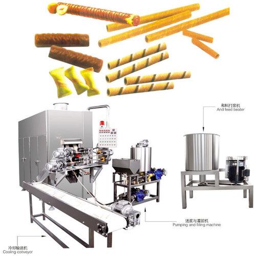 Automatic Egg Roll Making Machine Ice Cream Cone Forming Machine