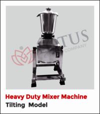 Heavy Duty Mixer Machine Tilting