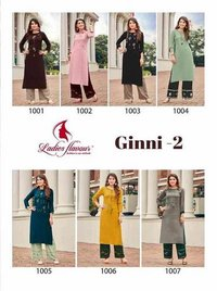 Ginni Vol-2 Rayon Kurti Catalogue Set