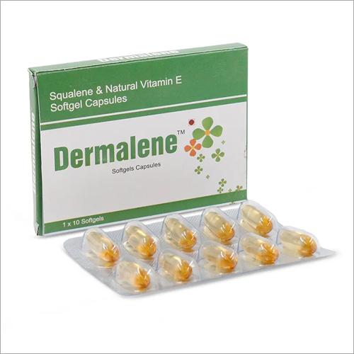 Squalene And Natural Vitamin E Softgel Capsules