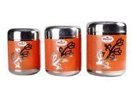 Stainless Steel Colour Printed Container Set