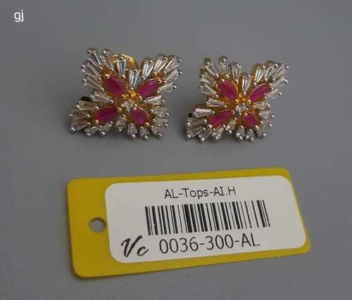 Designer American Diamond Earrings