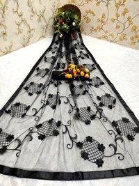 Ladies Flower Net Saree