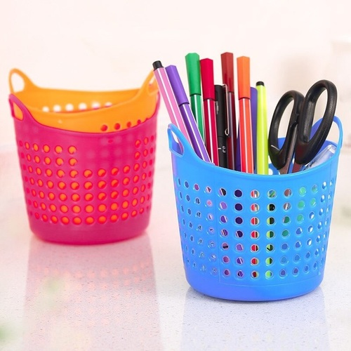 2 Pcs Mini Desktop Storage Basket (Random Color)