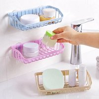 Dish Washing Suction Sponge Holder (Random Color)