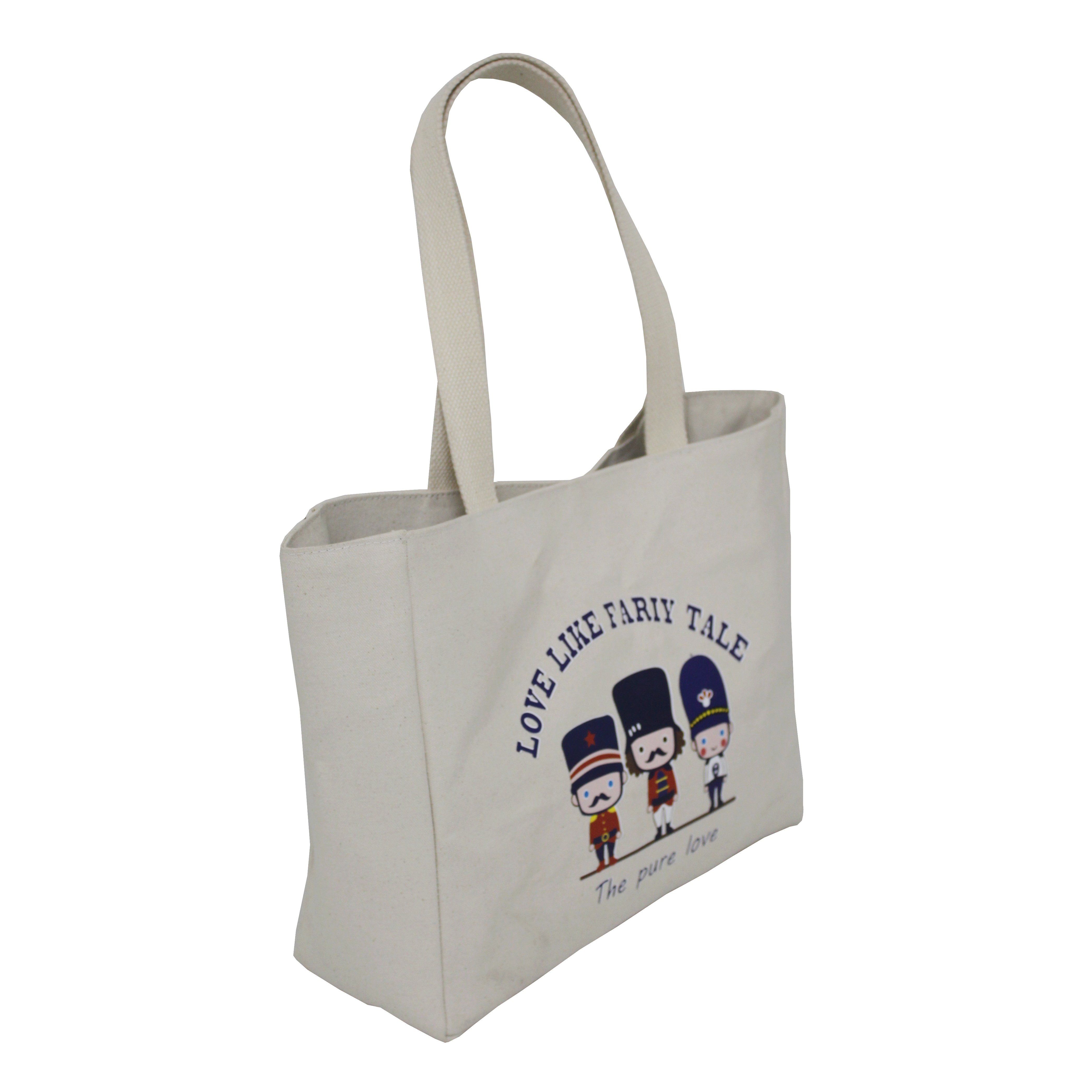12 Oz Natural Canvas Eva Padded Tote Bag With Lining & Web Handle