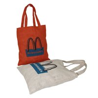 Jute Fabric Tote Bag With Self Handle
