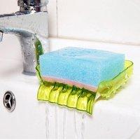 Plastic Waterfall Suction Soap Tray (Random Color)
