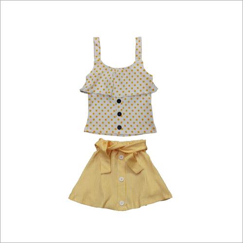 Baby Designer Girl Top And Skirt