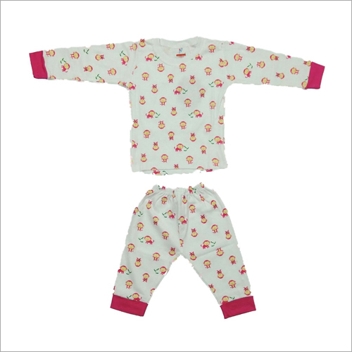 Baby Printed Night Suit And Dress Set
