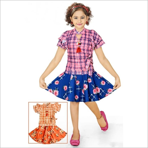 Kids Girls Western Style Fancy And Party Dress