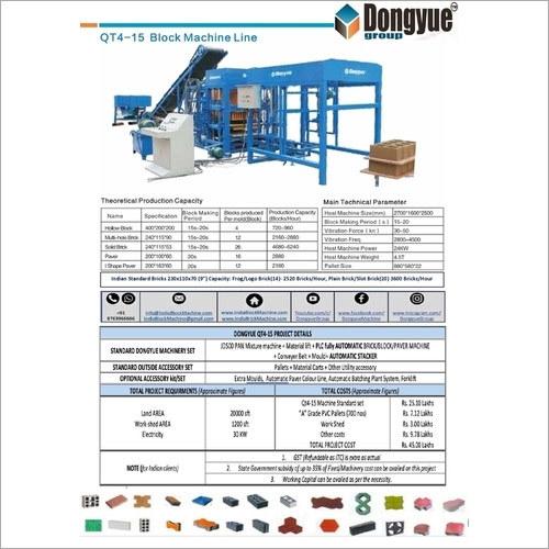 QT4-15 Automatic Flyash Brick machine