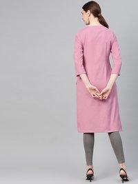 Pink Cotton Kurti