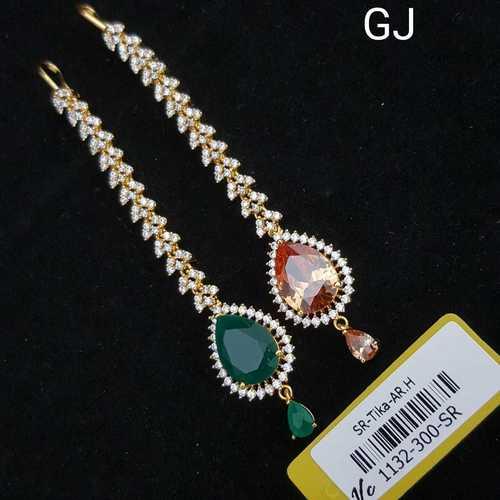American Diamond Tikka with G.J  plating