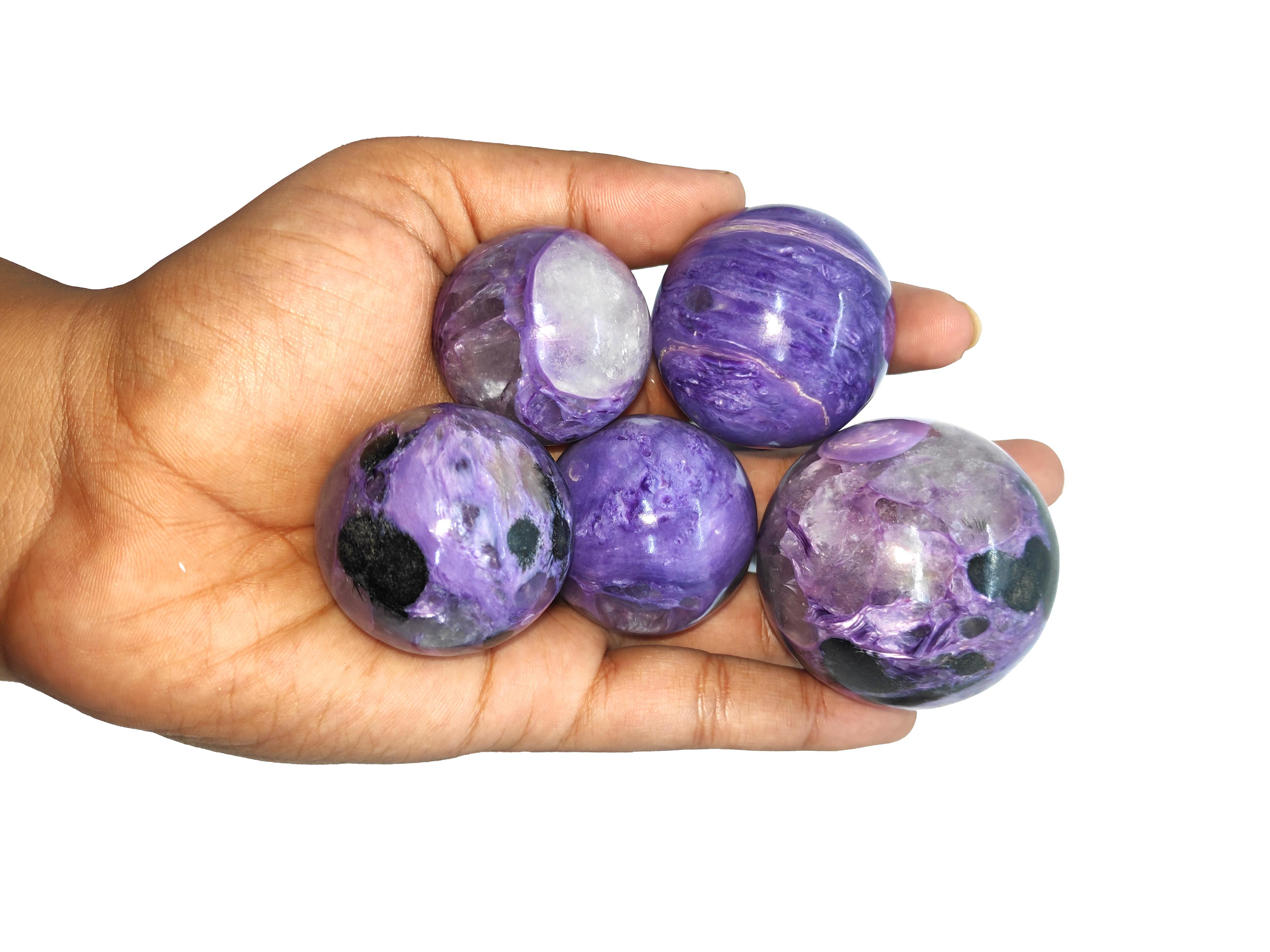 Charoite Spheres