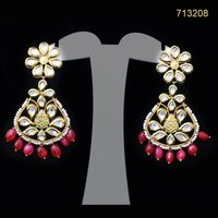 Kundan Earrings with Stones