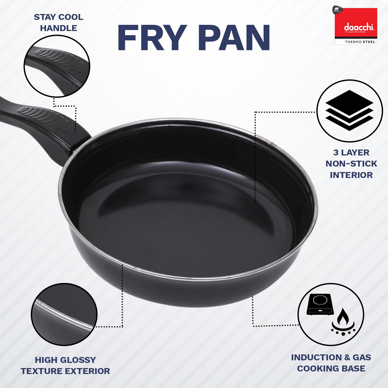 Black Enamel coated Fry Pan