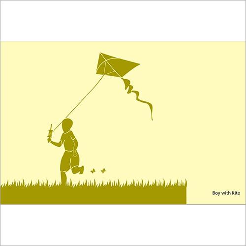 Stencil - Boy with Kite
