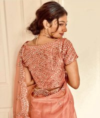 Banglori Silk Full Mirror Work