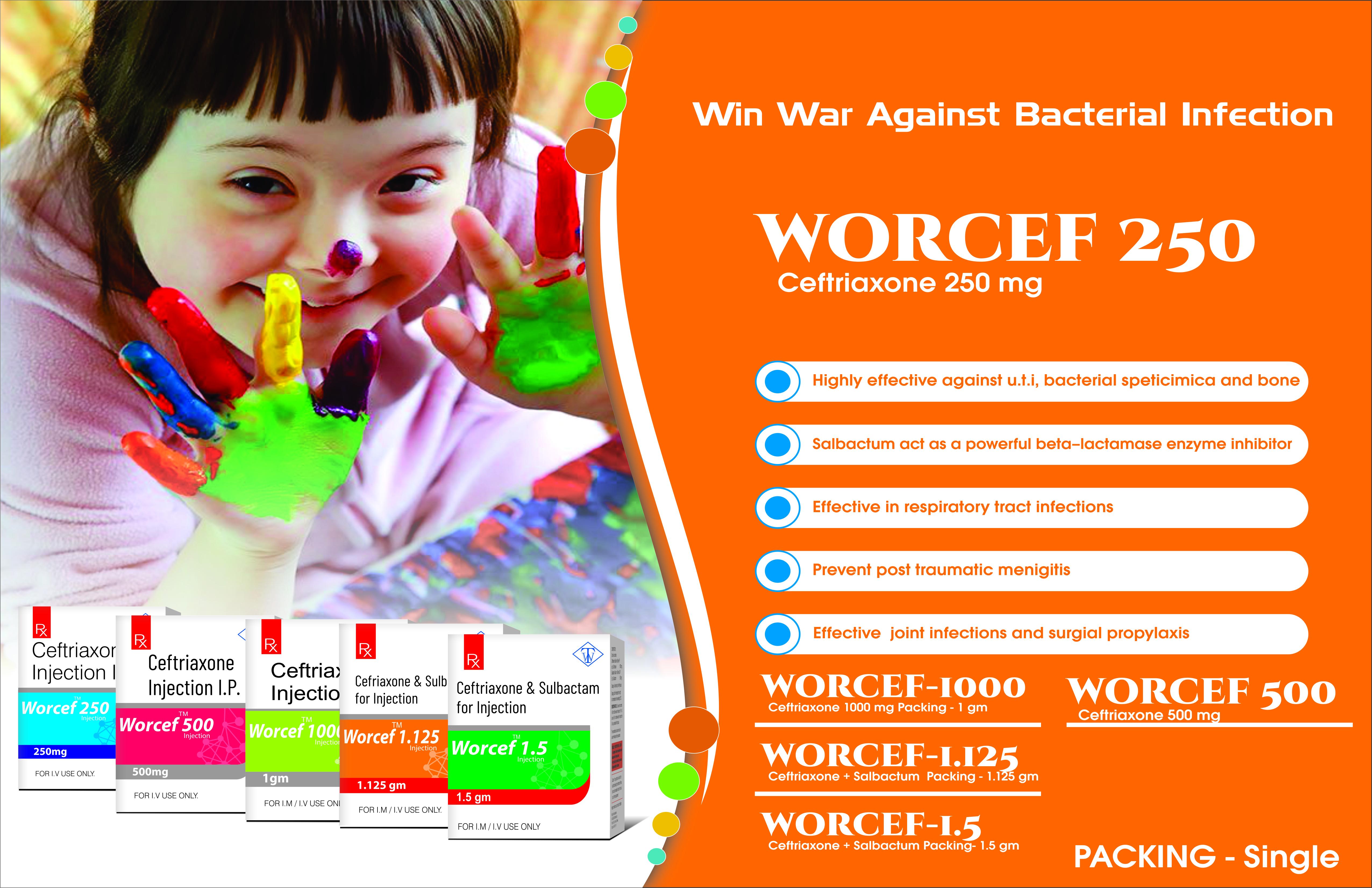 Truworth worcef 250 (Ceftriaxone 250 mg Injection)