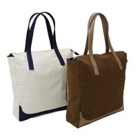 Dyed Fabric Designer Tote Bag With Zip Pocket