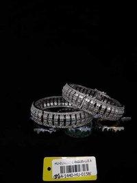 American Diamond Bangles with Black Rhodium Plating