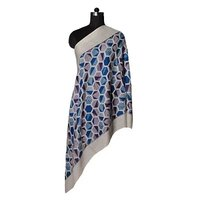 Fine Wool Screen Printed Stole